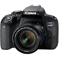 Canon EOS 800D Single Kit with EFS 18-55mm f 4-5.6 IS STM Digital Camera - SLR(800DKIS) 3Inch Display,Black (Australian…