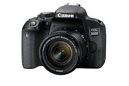 Canon EOS 800D 24 2MP Digital SLR Camera + EF-S 18-55 mm is STM Lens + 16GB  Memory Card + Carrycase