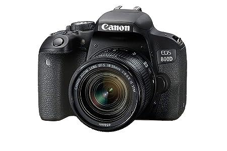 Canon EOS 800D 24.2MP Digital SLR Camera + EF-S 18-55mm IS STM Lens + 16GB Memory Card