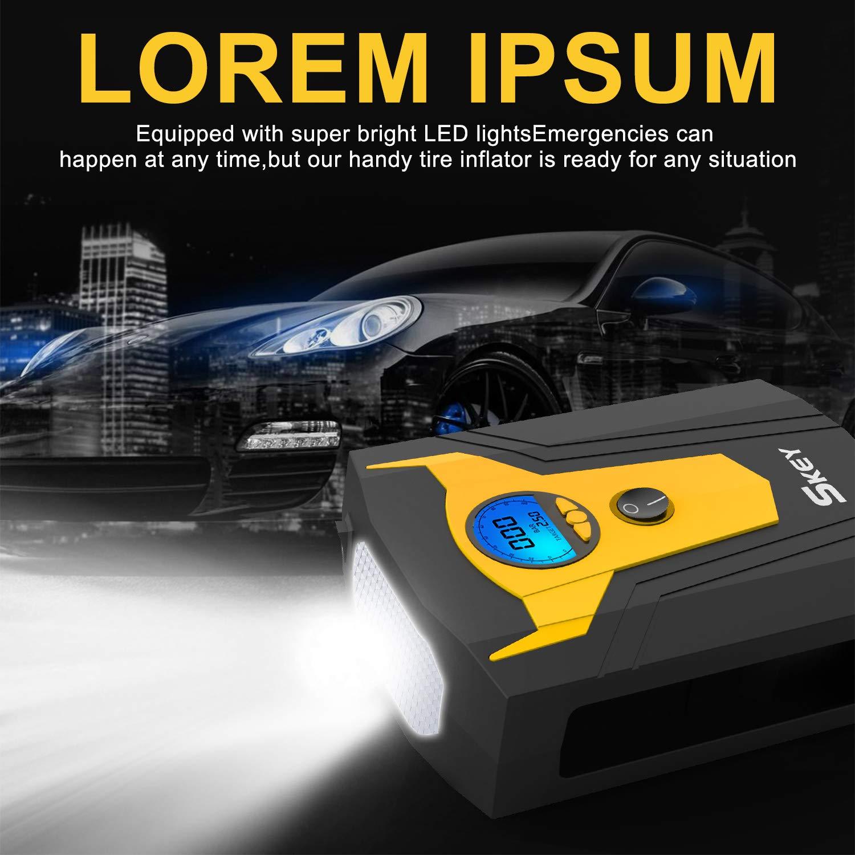 Electric Auto Pump 12V DC Portable Air Compressor Pump Digital Tire Inflator Car Tire Pump Skey Air Compressor Tire Inflator