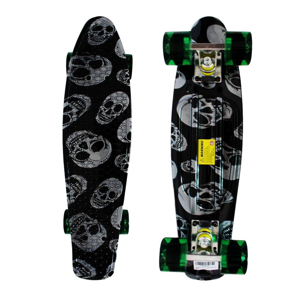 RIMABLE Complete 22'' Skateboard (black sckull)