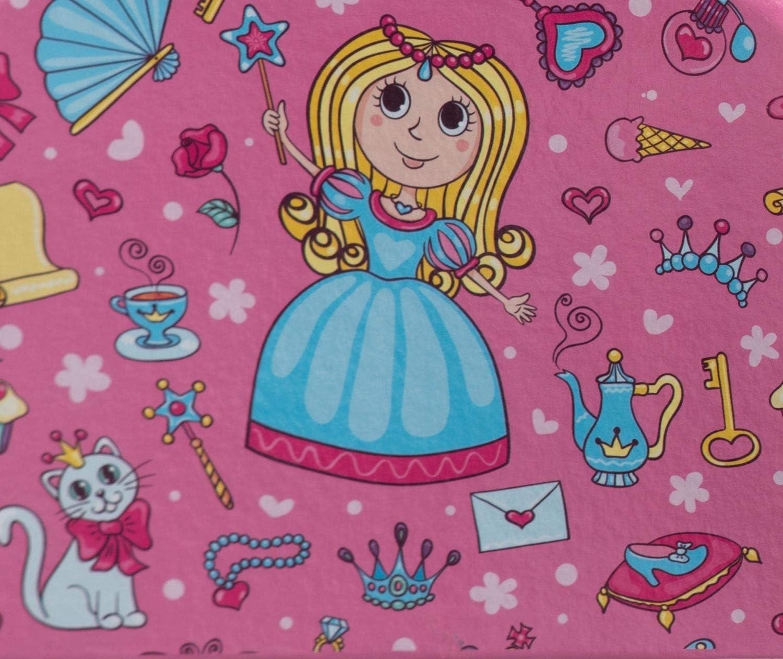 Bleu Clair et Rose avec poign/ée en m/étal BIECO Valise Enfants Valise Princesse en Carton Solide 2,5 litres 20 cm pour Les Enfants /à partir de 3 Ans Bagages Enfants 20 cm