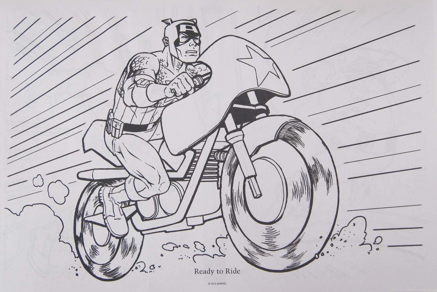 Marvel Capitan America Super Soldier Libro Gigante Da Colorare E Attivita 27 3 X 40 6 Cm Amazon It Giochi E Giocattoli