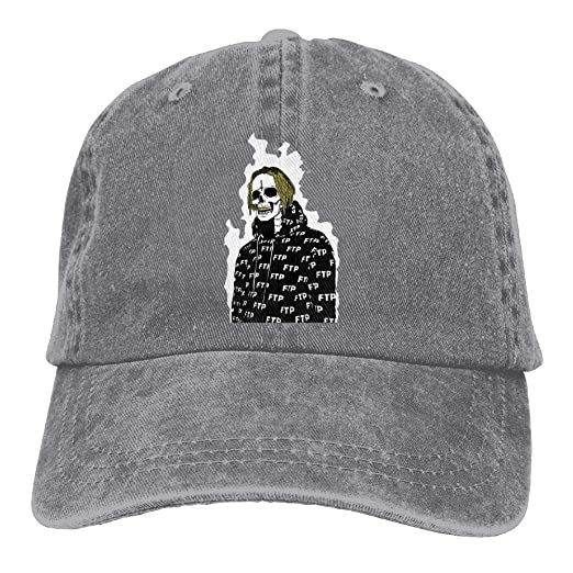 XianNonG Men s Black Adjustable Vintage Washed Denim Baseball Cap  UICIDE-BOY FTP Dad Hat Trucker Cap at Amazon Men s Clothing store  8e86872e6dfc