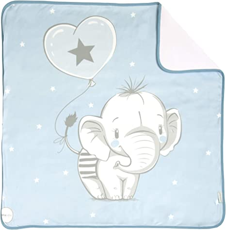 Arrullo para bebé estampado punto de algodón (80 x 80 cm ...