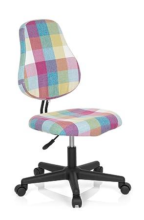 HJH Office Chaise De Bureau Enfant KIDDY Square Tissu Multicolore