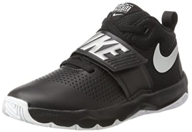 separation shoes 6f6fc cf1cf Nike Boys  Team Hustle D 8 (GS) Basketball Shoe, Black Metallic