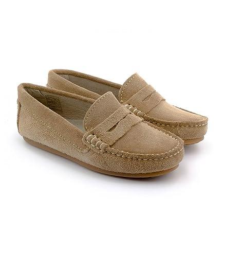 Boni Classic Shoes - Mocasines de Piel Vuelta para niño, Beige (Daim Beige Clair), 33: Amazon.es: Zapatos y complementos