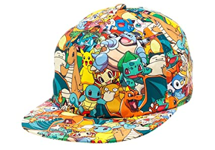 Image Unavailable. Image not available for. Color  Bioworld Pokemon - AOP  Sublimated Cap Hat f792583f129d