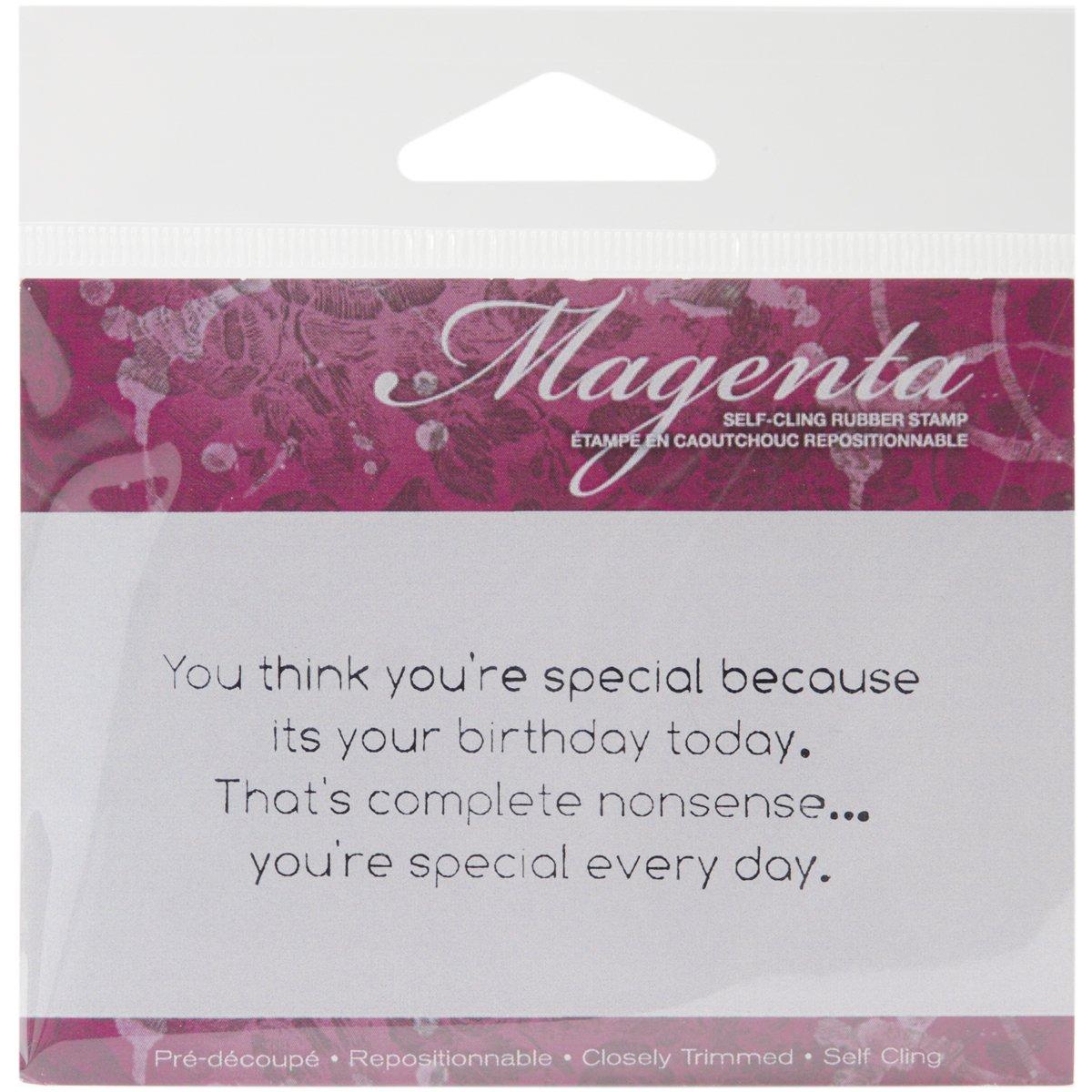 mejor opcion Magenta Sellos Cling, 5,7 x 2,54 cm, eres especial cada cada cada día  Con precio barato para obtener la mejor marca.