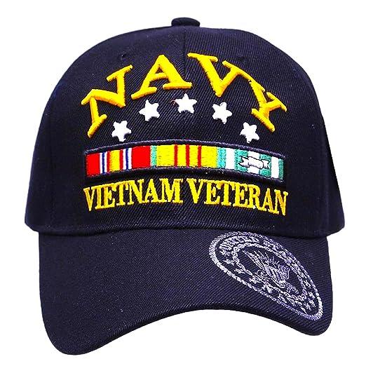 700176dd292 United States Navy Veteran Hat Baseball Cap (Navy Blue - Vietnam Vet ...