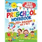 BIG XXL Preschool Workbook AGE 3 TO 5: 222+ Activities Letter Tracing - Number 1-10 - Early Math - Coloring for Kids - Lines