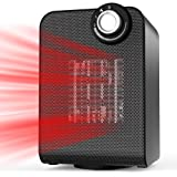 BIMONK Space Heater, Auto Oscillating 1800 Watts Heater with Thermostat for Home, Office Under Desk, Compact Personal Powerful Ceramic Electric Heater, Heat-up in 3 Seconds