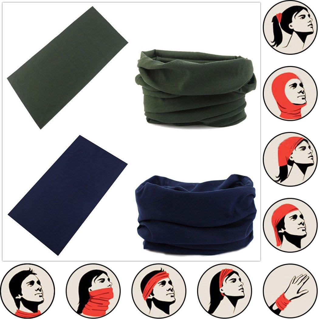 Headwear Head Wrap Sport Headband Sweatband 220 Patterns Magic Scarf 12PCS & 6PCS 12 in 1 By VANCROWN (12PCS.Solid Color) by VANCROWN (Image #5)