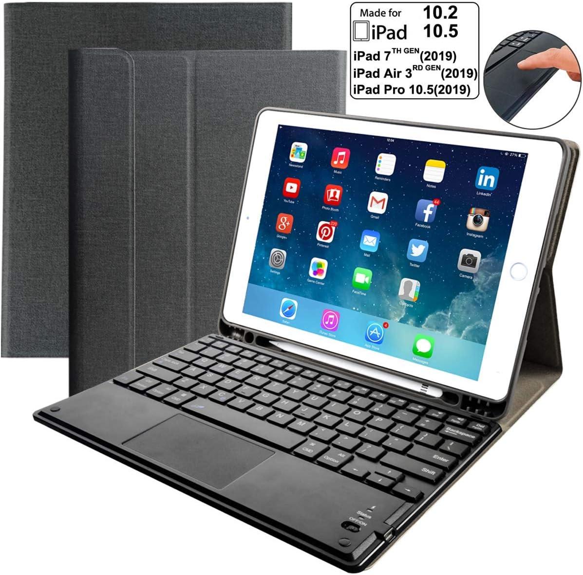 Funda con teclado para iPad 10.2/iPad Air 3 10.5...-LCC1