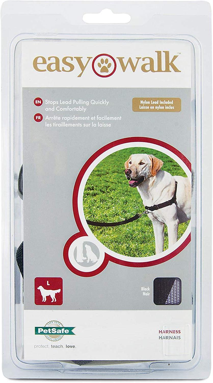 PetSafe Easy Walk Arnés para Perros, Grande, Negro/Beige, 1,8 m de Plomo