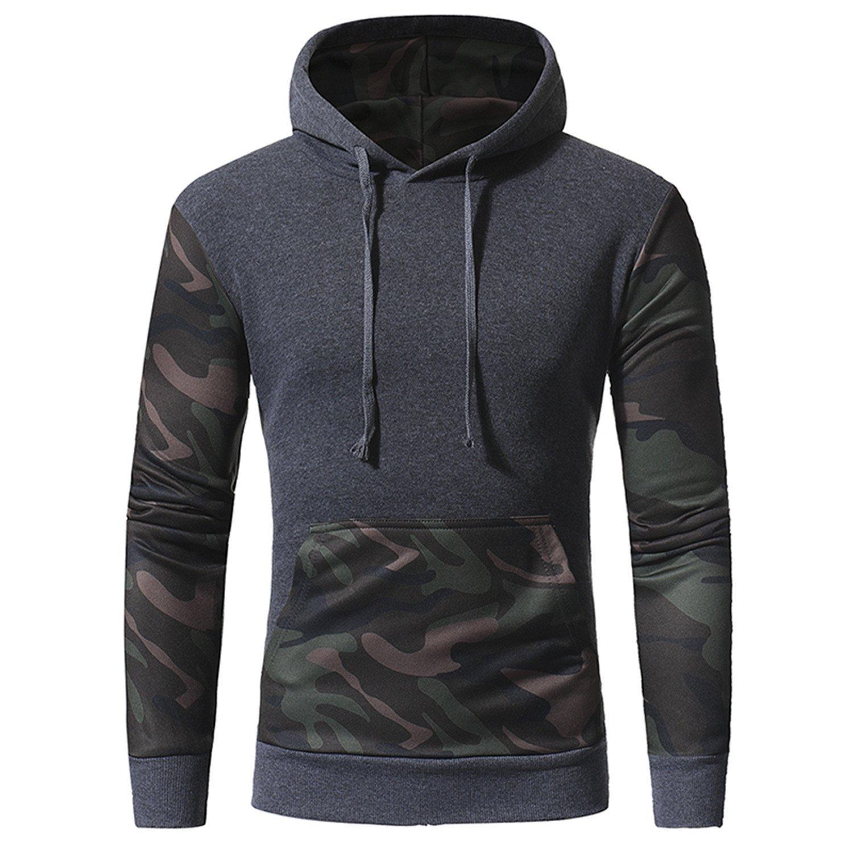 Amazon.com: RENXINGLIN Cosy Men Sudaderas Hombre Hip Hop Mens Camouflage hoodies Pullover hoodies sweashirt: Clothing