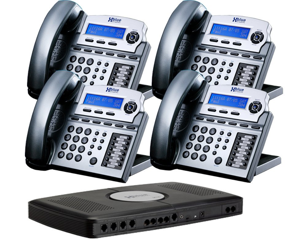 Amazon.com : X16 Small Office Phone System With 4 Titanium Metallic X16  Telephones   Auto Attendant, Voicemail, Caller ID, Paging U0026 Intercom :  Corded ...