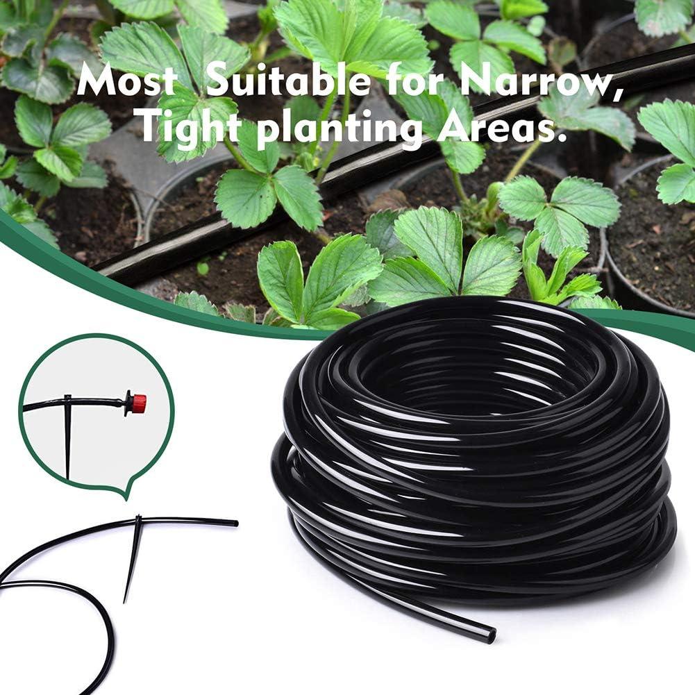 Bonviee 100ft 1/4 inch Blank Distribution Tubing Drip Irrigation Hose Garden Watering Tube Line for Small Garden Irrigation System : Garden & Outdoor