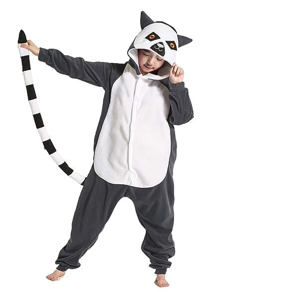 0bc4649458c1 Amazon.com  Kids Pajamas Children s Animal Cosplay Costume Lemur Onesie  Unisex