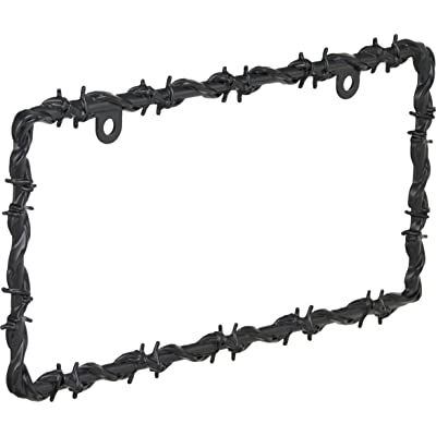 Bell Automotive 22-1-46565-8 Black Barbed Wire License Plate Frame: Automotive