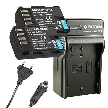 Cargador PATONA + 2x Bateria para DMW-BLF19E BLF-19E ...