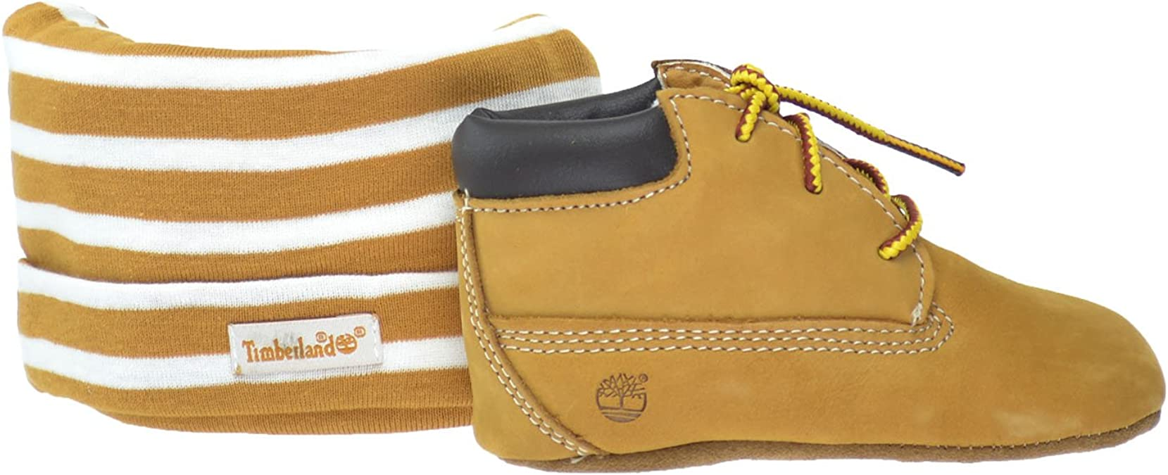 Timberland Baby Boy/'s Crib Shoes Bootie Wheat Soft Bottom 9589R Gift Set