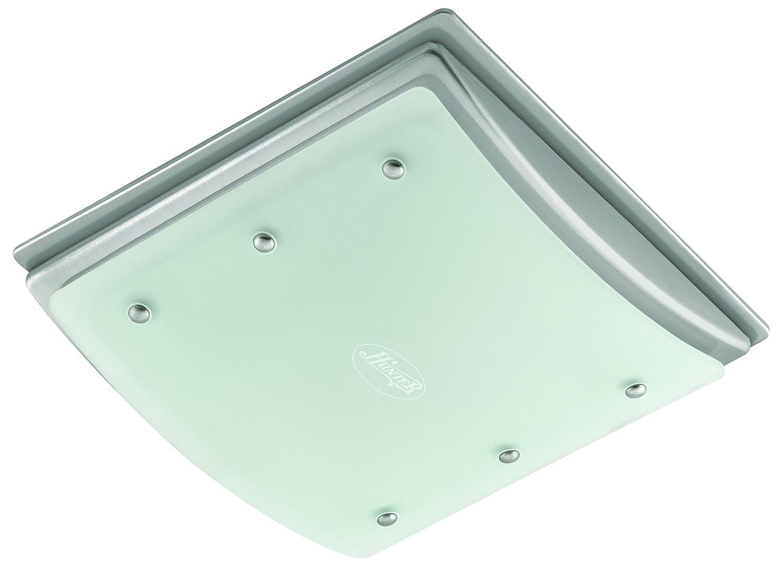 Hunter 90064 Bent Alabaster Glass Bathroom Fan   Bathroom Fan With Light    Amazon.com