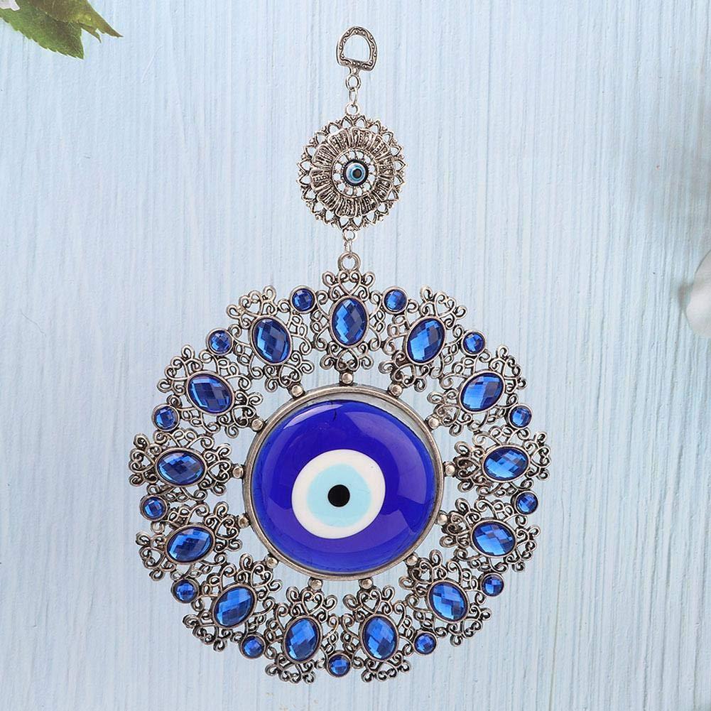 Hztyyier Amuleto di Vetro Turco Blu Evil Wall Hanging Home Decor Regalo di Protezione Lucky Pendant