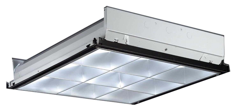 Lithonia Lighting Pt2u Mv Silver 9 Cell Volt Parabolic Troffer 2 Feet By Close To Ceiling Light Fixtures Com