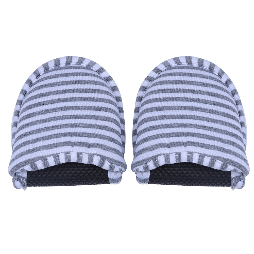 Travel Hotel Slippers,Portable Foldable Reusable Flip Flop Soft Loafer Shoes Cotton Anti-Slip Slipper with Portable Carrying Bag for or Home Hotel Flight Indoor Outdoor Women Men(Grey Stripes Woman) by Tbest