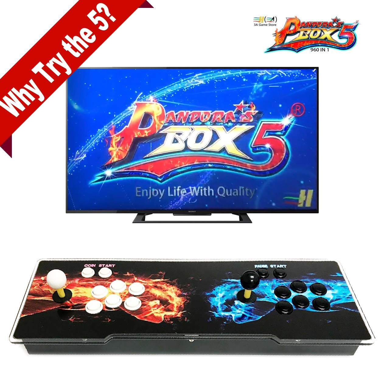 Pandora's Box 5 Support PS3 PC TV 2 Players 1280x720 Full HD