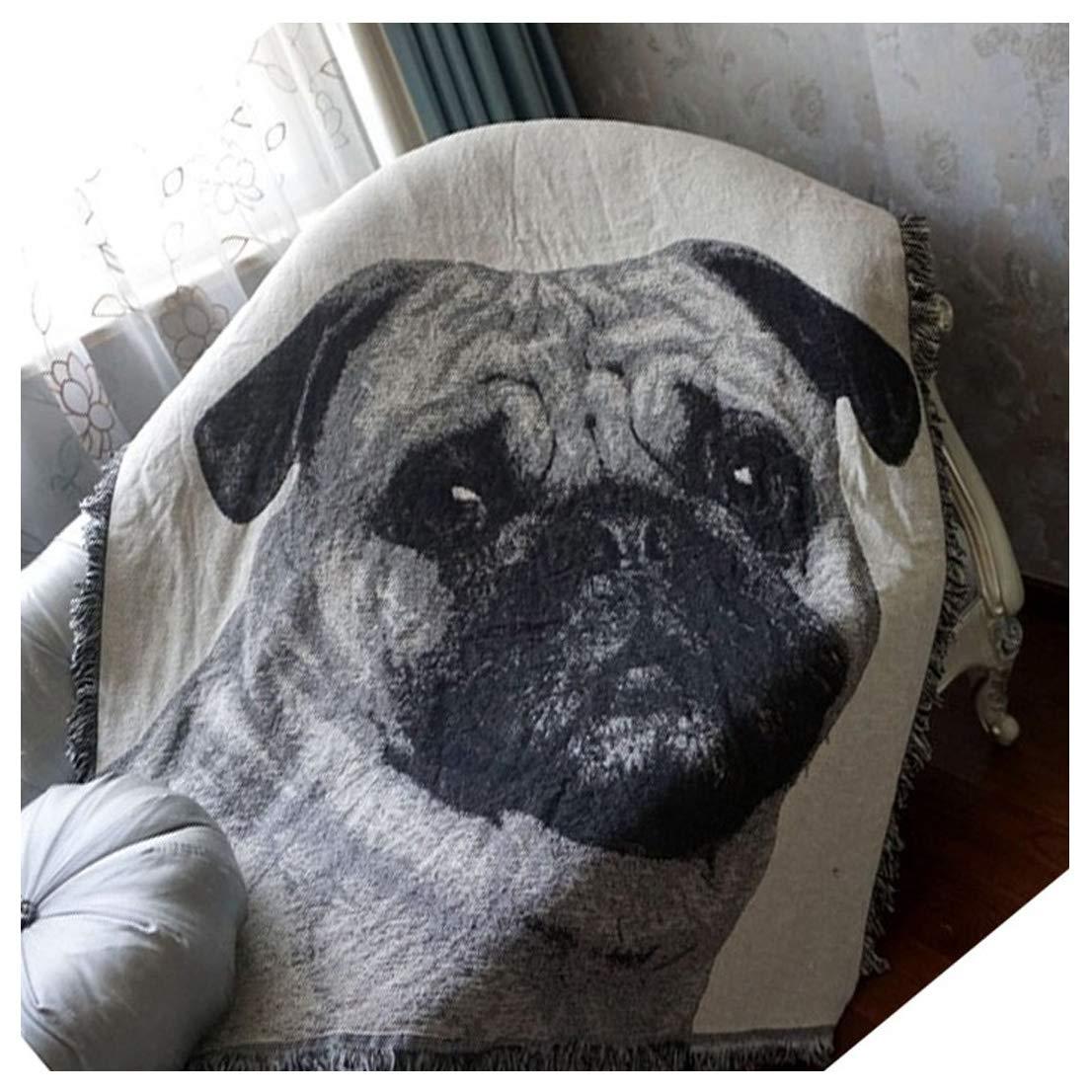 印刷ボヘミアンスロー毛布猫犬動物パターンニットThrow Fuzzy毛布50