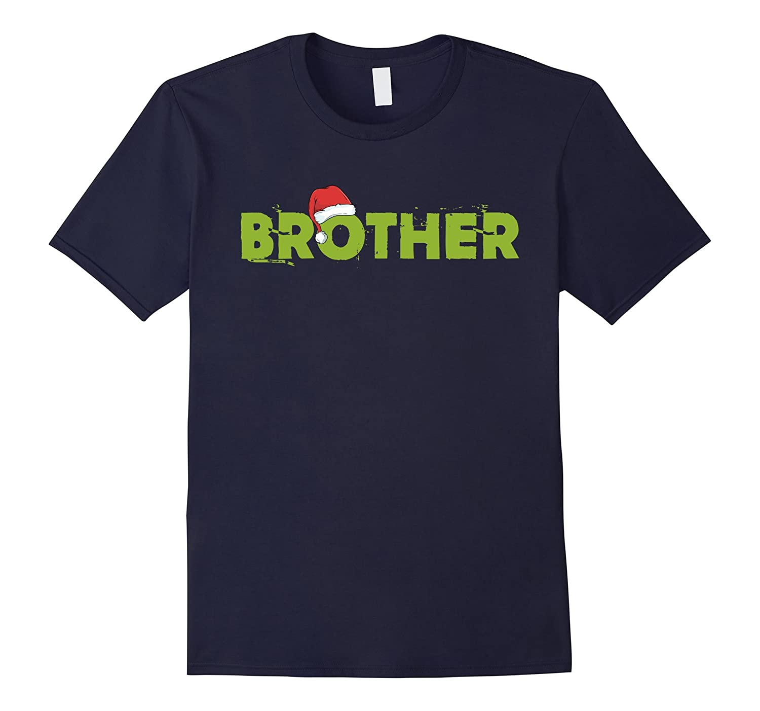 Brother Christmas Santa Family Matching Pajamas T-Shirt-Rose