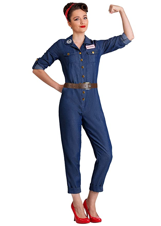 Rosie the Riveter Costume & Outfit Ideas WWII Icon Womens Costume $59.99 AT vintagedancer.com