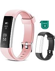 Muzili Tracker de Fitness Bracelet Sport étanche avec Tactile écran Tracker d'activité avec Compteur de Pas/Calories / Moniteur de Sommeil/Notifications Bracelet Mixte pour Les Femmes et Les Hommes