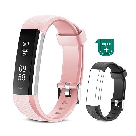 MUZILI Pulsera de Actividad Inteligente Fitness Tracker Impermeable Pulsera Actividad Reloj Deportivo con Podometro/Monitor de sueño/Notificación de ...
