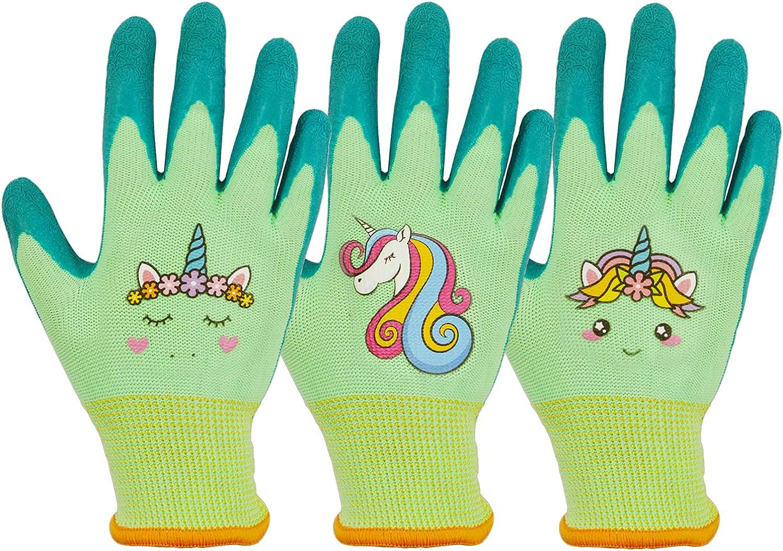 GLOSAV Toddlers Gardening Gloves, Kids Garden Gloves for Age 2-8