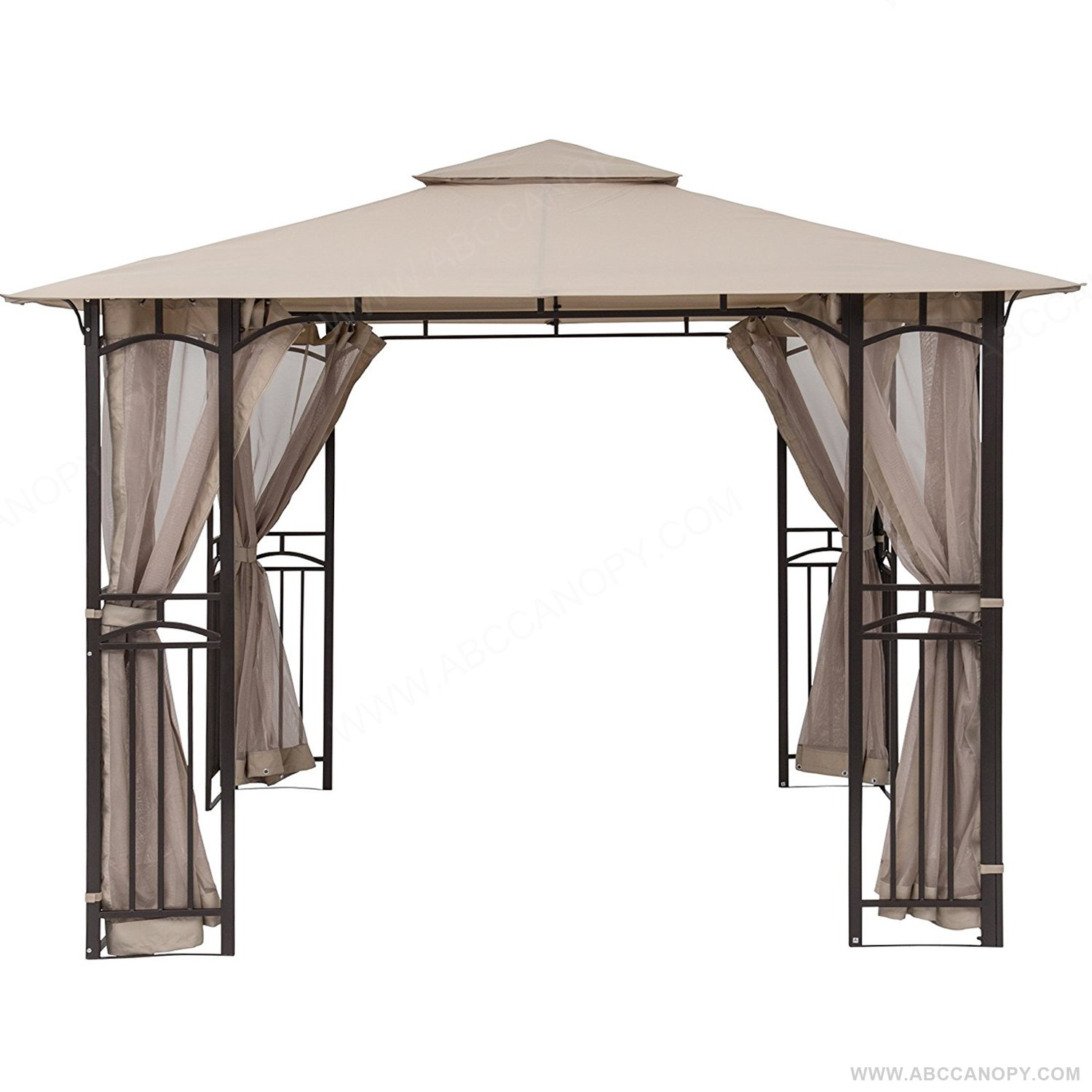 ABCCANOPY Gazebo Mosquito Netting Screen walls for 10'x12' or 11'x14' Gazebo Canopy Beige (Only Screen Wall)