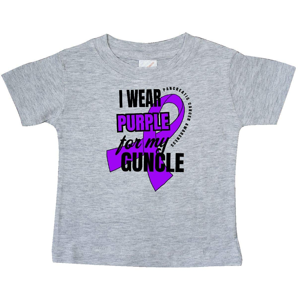inktastic I Wear Purple for My Guncle Pancreatic Cancer Awareness Baby T-Shirt