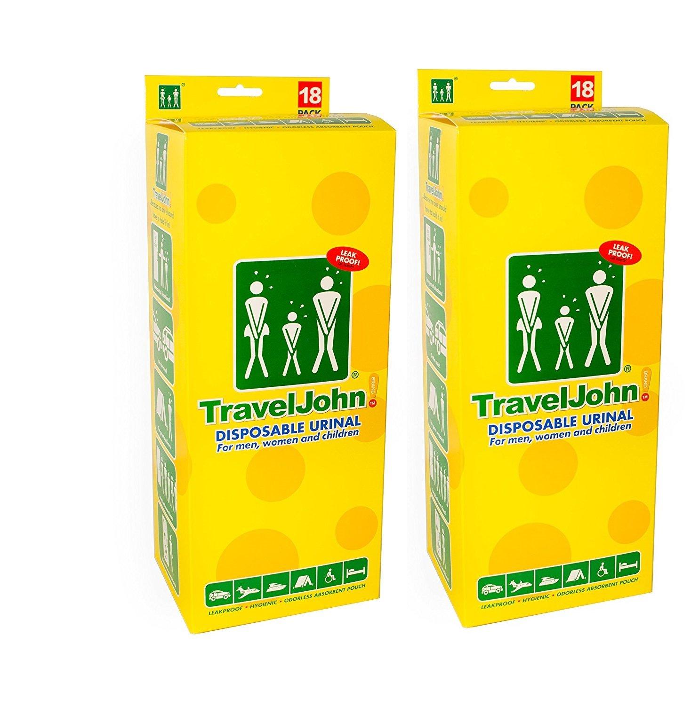 TravelJohn Disposable Urinal (36 Urinal Bags)