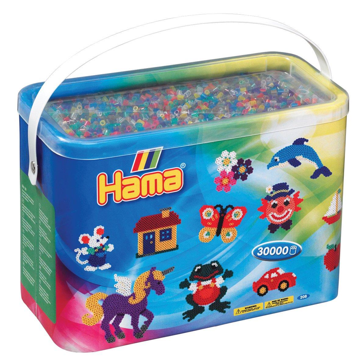 Hama - 208-50 - Mondo Creativo - Midi Baril - 30000 Beads - Misto - Pastello