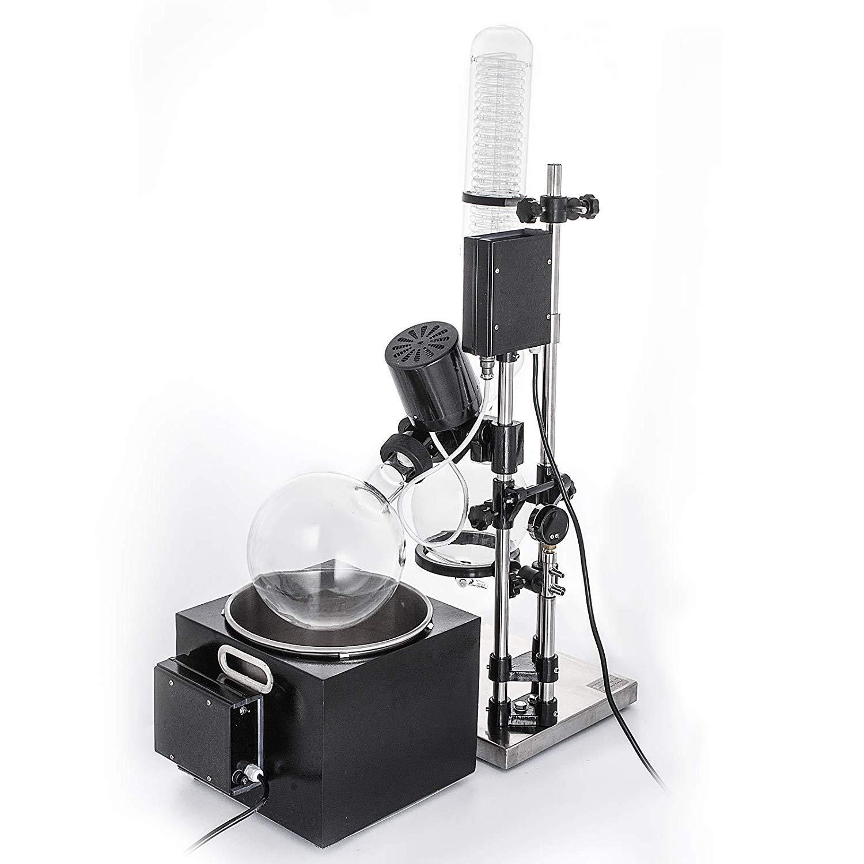 LIANYANG Evaporatore Rotante da 5 Litri Lab Evaporatore Rotante a 180 /° C Bagnomaria riscaldante RE-501 per unefficace rimozione dei solventi