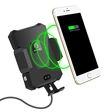 Wireless Car Charger, TZF Automatic Qi Wireless Charging Mount Air Vent Cell Phone Holder for Samsung Galaxy S9 S9 Plus S8 S7 S7 Edge Note 8 5 iPhone X 8 8 Plus Other Qi Enabled Devices Black