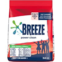 Breeze Powder Detergent, Power Clean, 3.6kg