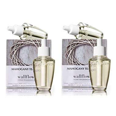 Bath and Body Works Wallflowers 4 Bulbs Refills MAHOGANY TEAKWOOD