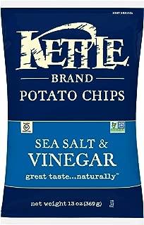 product image for Kettle Brand Potato Chips, Sea Salt & Vinegar Kettle Chips, 13 Oz