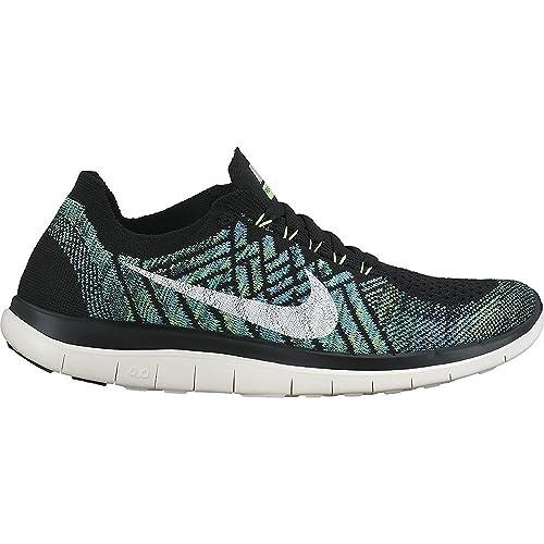 best service c236d 7e2e3 Nike Free 4.0 Flyknit Women's Running Shoes, 10.5, Green ...
