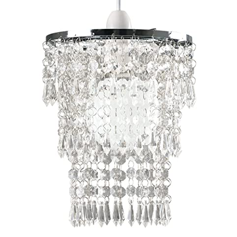 Beautiful Modern Chrome Chandelier Pendant Shade With Stunning ...