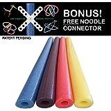 Oodles of Noodles Foam Pool Noodles, 4 Colors, 4-Pack